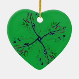 Ornamento De Cerâmica Verde luxuoso da arte da mandala