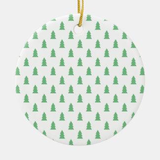 Ornamento De Cerâmica Verde pastel do teste padrão simples elegante da