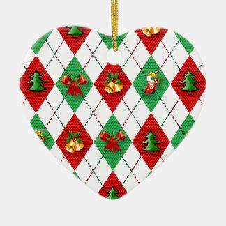 Ornamento De Cerâmica verde vermelho do design novo do Natal
