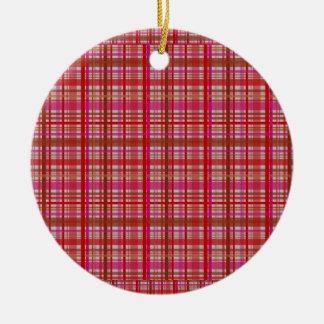 Ornamento De Cerâmica verifique a decoração do Natal do impressão