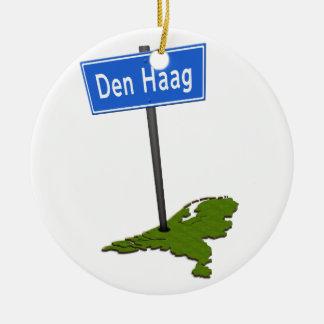 Ornamento De Cerâmica Verkeersbord de Haag do antro
