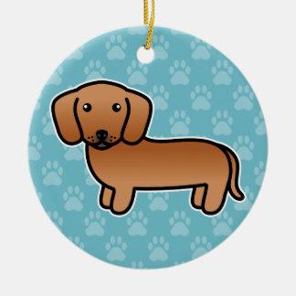 Ornamento De Cerâmica Vermelho alise o cão dos desenhos animados do