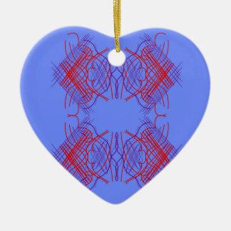 Ornamento De Cerâmica Vermelho azul da mandala do design