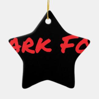 Ornamento De Cerâmica Vermelho da comida do tubarão