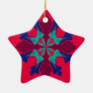Ornamento De Cerâmica Vermelho de Ethno da mandala do design