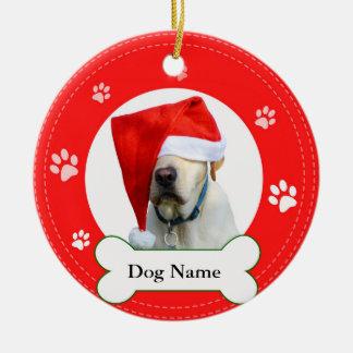 Ornamento De Cerâmica Vermelho do cão de labrador retriever com patas e