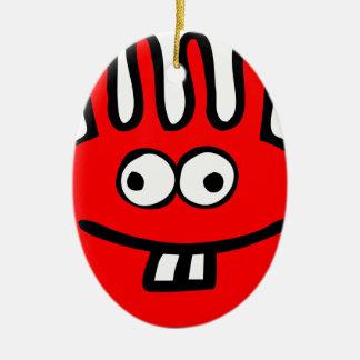 Ornamento De Cerâmica Vermelho do monstro de Floatie