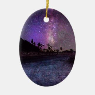 Ornamento De Cerâmica Via Láctea do parque nacional de árvore de Joshua