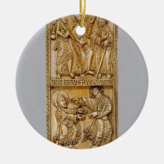 Ornamento De Cerâmica Viagem a Emmaus e a Noli mim Tangere