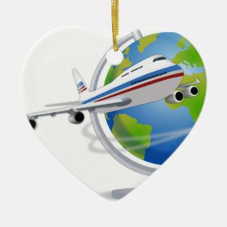 Ornamento De Cerâmica Viagem ao redor do mundo