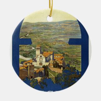 Ornamento De Cerâmica Viagem de Assisi do vintage