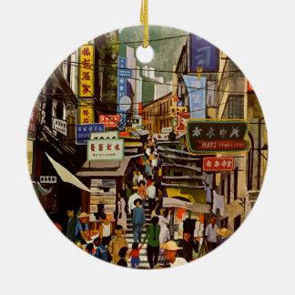 Ornamento De Cerâmica Viagem de Hong Kong China da linha aérea do