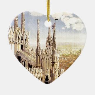Ornamento De Cerâmica Viagem de Milão do vintage