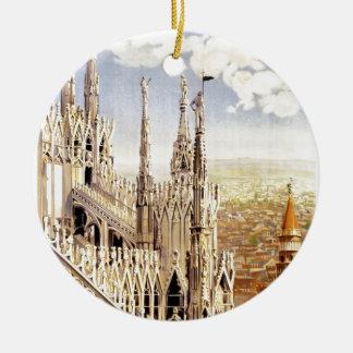 Ornamento De Cerâmica Viagem de Palermo do vintage