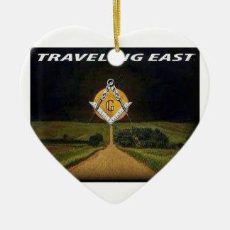 Ornamento De Cerâmica Viagem para o leste
