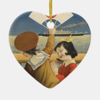Ornamento De Cerâmica Viagens vintage Japão