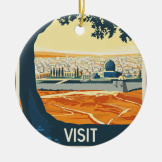 Ornamento De Cerâmica Viagens vintage Palestina