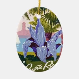 Ornamento De Cerâmica Viagens vintage Puerto Rico