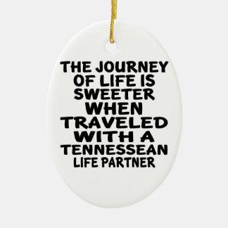 Ornamento De Cerâmica Viajado com um sócio da vida de Tennessean
