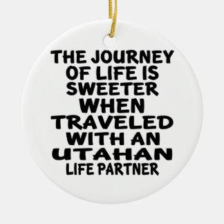 Ornamento De Cerâmica Viajado com um sócio da vida de Utahan