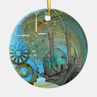 Ornamento De Cerâmica Viajante do caracol do vapor do Aqua