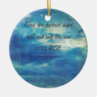 Ornamento De Cerâmica Victor Hugo, citações de Les Miserables inspiradas