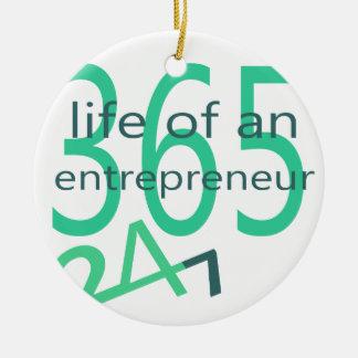 Ornamento De Cerâmica Vida de um empresário