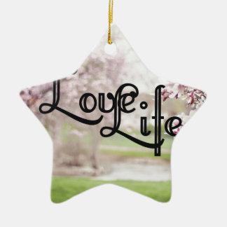 Ornamento De Cerâmica Vida do amor
