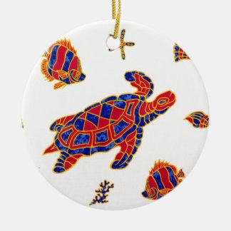 Ornamento De Cerâmica Vida marinha