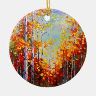 Ornamento De Cerâmica Vidoeiros do outono