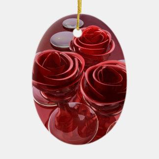 Ornamento De Cerâmica Vidro cor-de-rosa