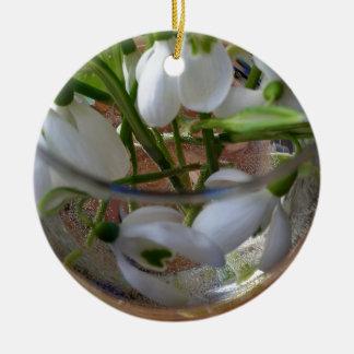 Ornamento De Cerâmica vidro dos snowdrops