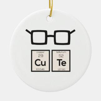 Ornamento De Cerâmica Vidros bonitos Zwp34 do nerd do elemento químico