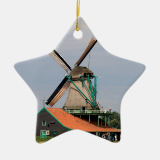 Ornamento De Cerâmica Vila holandesa do moinho de vento, Holland 3