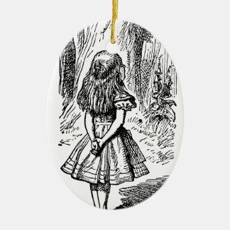 Ornamento De Cerâmica Vintage Alice gato no país das maravilhas,