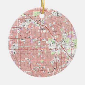 Ornamento De Cerâmica Vintage Anaheim & bosque CA Mapa do jardim (1965)