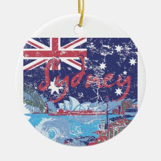 Ornamento De Cerâmica vintage Austrália de sydney