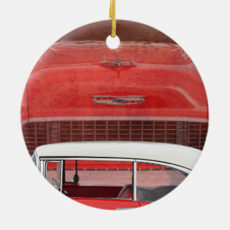 Ornamento De Cerâmica Vintage branco vermelho de Dodge do Bel Air