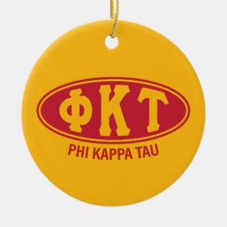 Ornamento De Cerâmica Vintage da tau | do Kappa da phi