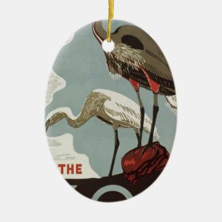 Ornamento De Cerâmica Vintage do jardim zoológico da visita
