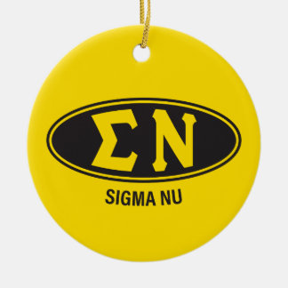 Ornamento De Cerâmica Vintage do NU   do Sigma