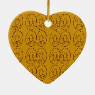 Ornamento De Cerâmica Vintage do ouro dos limões do design