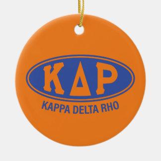 Ornamento De Cerâmica Vintage do ró | do delta do Kappa