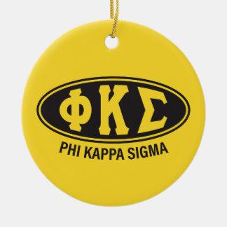 Ornamento De Cerâmica Vintage do Sigma | do Kappa da phi