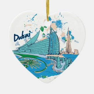 Ornamento De Cerâmica vintage Dubai nós design de e