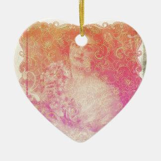 Ornamento De Cerâmica Vintage, époque do belle, senhora bonita,