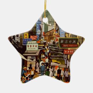 Ornamento De Cerâmica Vintage Hong Kong