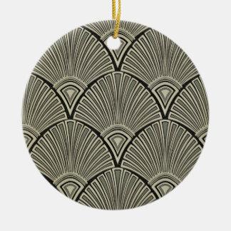 Ornamento De Cerâmica vintage, nouveau da arte, bege, cinza, art deco,