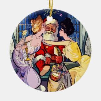Ornamento De Cerâmica Vintage Papai Noel