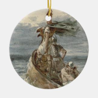 Ornamento De Cerâmica Vintage que invade a pintura de Viquingues (1873)